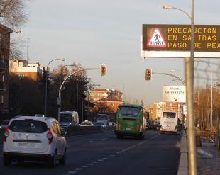 Los semáforos de la A-5 traen más novedades al Paseo de Extremadura