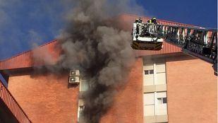 Incendio en Villa de Vallecas.