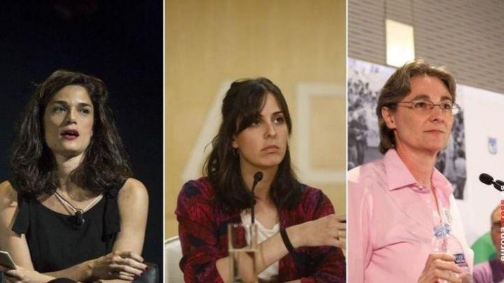 Clara Serra, Rita Maestre y Marta Higueras.