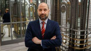 El alcalde de Colmenar Viejo y candidato a la reelección del PP, Jorge García, en la sede de Madridiario.