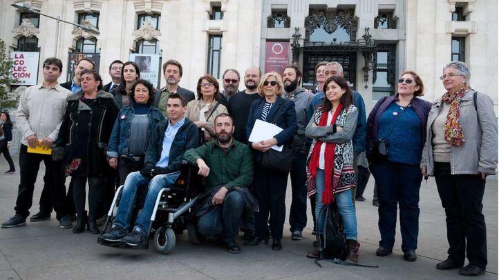 Presentación del equipo de Ahora Madrid en el Palacio de Cibeles hace cuatro años.