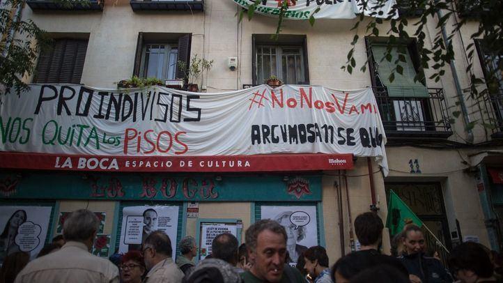 Desahucio en la Calle Argumosa 11, en el barrio de Lavapiés.
