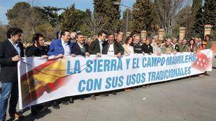 Representantes del PP en la manifestación por el mundo rural.