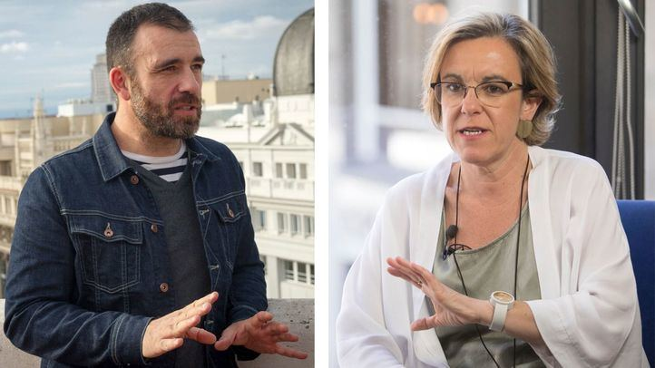 Nacho Murgui (Ahora Madrid) y Purificación Causapié (PSOE).