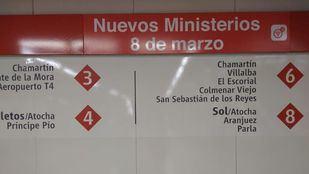La estación de Nuevos Ministerios cambia su nombre por la celebración del Día de la Mujer.