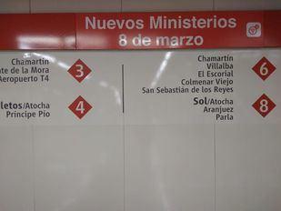 Próxima parada: Nuevos Ministerios - 8 de marzo