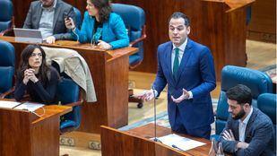 El portavoz de Ciudadanos en la Asamblea de Madrid, Ignacio Aguado, en la sesión de control al Gobierno del pasado jueves. (Archivo)
