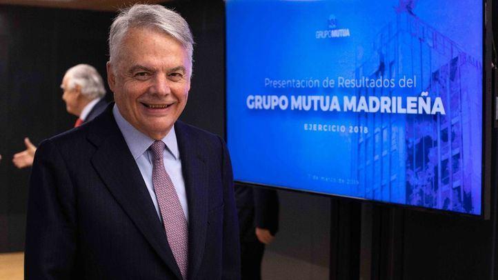 El presidente del Grupo Mutua Madrileña, Ignacio Garralda, ha presentado los resultados del año 2018 de la compañía.
