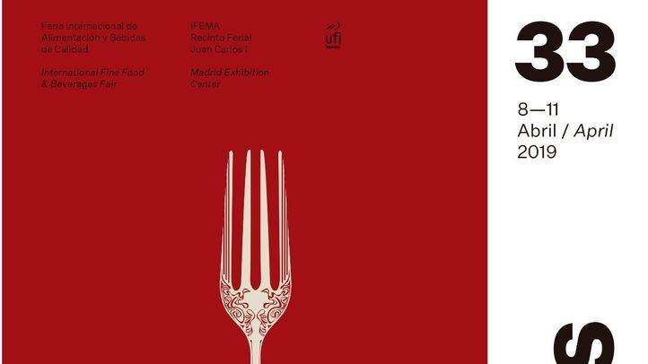 Cartel de la XXXIII edición del Salón Gourmets que se celebrará del 8 al 11 de abril