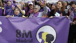 La manifestación feminista transcurrió sin incidencias graves
