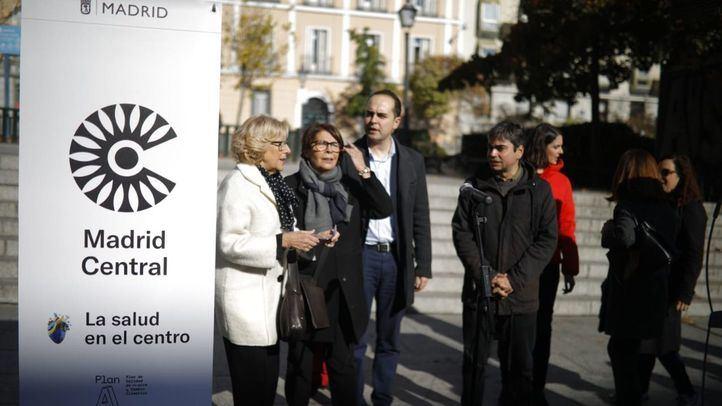 Parte del Gobierno del Ayuntamiento de Madrid en la presentación de Madrid Central.