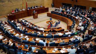 Pleno de la Asamblea de Madrid, donde comparecerá el consejero de Sanidad.