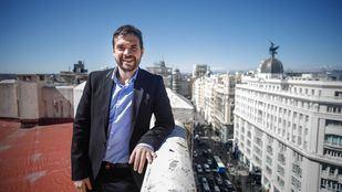 El candidato de Ganar Alcorcón a la alcaldía de dicho municipio y líder de la gestora de Podemos, Jesús Santos, en la redacción de 'Madridiario'.
