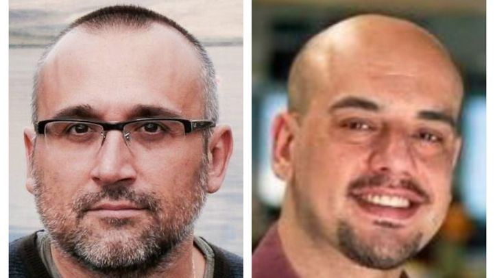 Ferran Boiza (redactor jefe del área de Madrid en El Mundo) y Carlos Hidalgo (redactor jefe del área de Madrid en ABC).