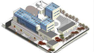 Planos en 3D del futuro centro juvenil de Zofío.