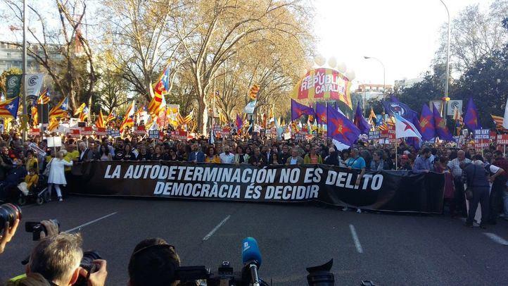 Manifestación por el juicio del procés y el derecho a la autodeterminación.