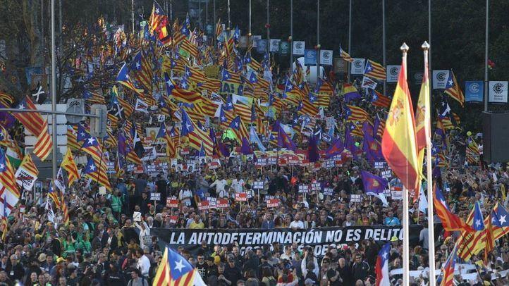 Manifestación por el juicio del procés en Madrid.