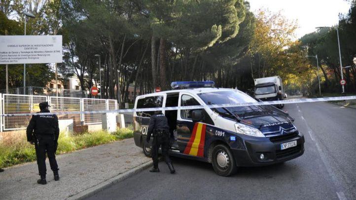 La Policía Nacional en el desalojo del Colegio Mayor San Juan Evangelista