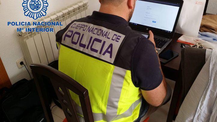 Imagen de archivo de agentes de la Policía Nacional en una operación.