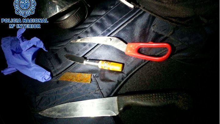 Foto de archivo de armas decomisadas en una reyerta.