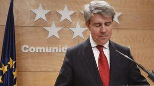 El presidente de la Comunidad, Ángel Garrido, en una rueda de prensa en la Real Casa de Correos. (Archivo)