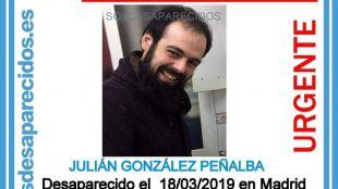 Julián González, opositor a Policía Nacional y residente en el barrio de Fuencarral, desaparecido desde el lunes.
