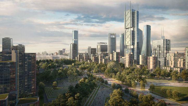 Recreación virtual del proyecto Madrid Nuevo Norte.