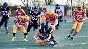Primera jornada de la Liga Nacional de Fútbol Americano Junior. Partido disputado entre el LG OLED Black Demons Las Rozas vs Rivas Osos.