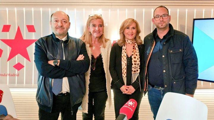 Los alcaldes Serafín Faraldos y Mariola Vargas, de Valdemoro y Collado Villalba, en Com.permiso junto a Constantino Mediavilla y Nieves Herrero