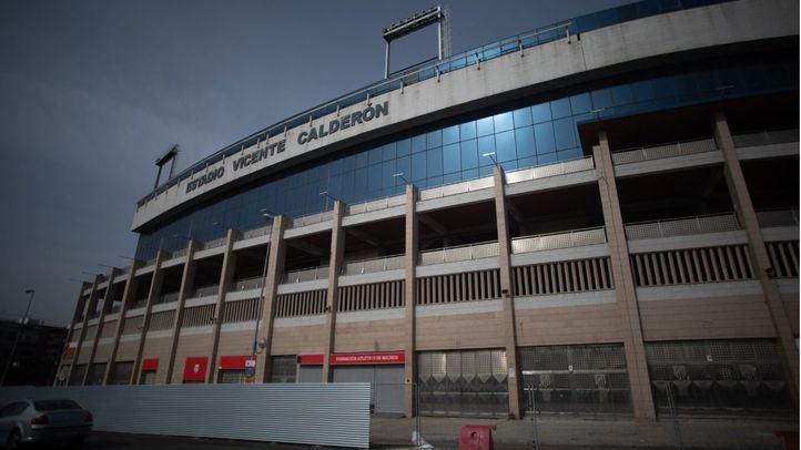 Inicio de las obras de derrumbe del estadio Vicente Calderón.