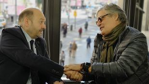 Amaury Pérez y Constantino Mediavilla, en la Terraza de Gran Vía, hablan del libro 'El infinito rumor del agua'