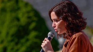 Isabel Díaz Ayuso, en la presentación de su plan de innovación y sostenibilidad ambiental.