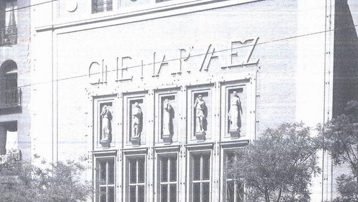 Imagen de archivo de la fachada principal de los cines Narvaez