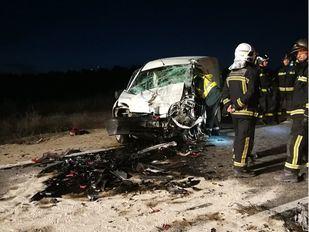 Un choque frontal deja dos heridos en Morata de Tajuña
