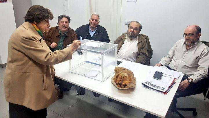 La abogada Pilar Bueno Ocaña ha votado este sábado en el referéndum.