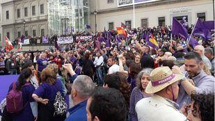 Acto de Podemos en el Reina Sofía con la vuelta de Pablo Iglesias.