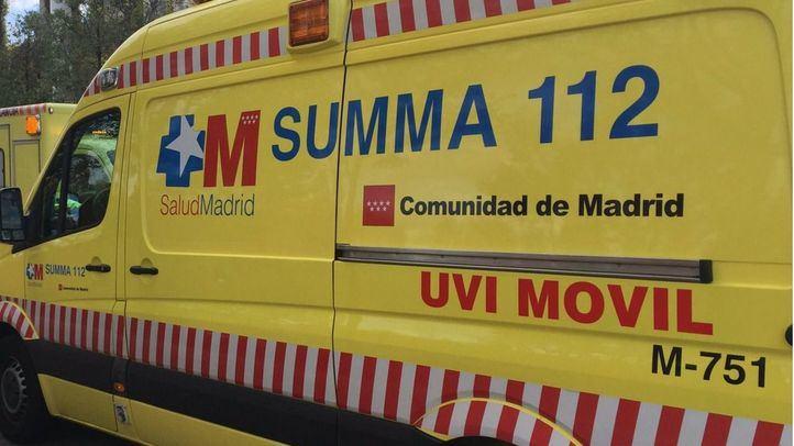 Una mujer, herida tras sufrir un accidente en Pinto