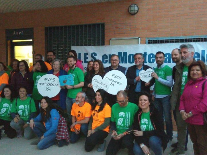 Pepu Hernández ha acompañado a las familias de Montecarmelo en su reivindicación.