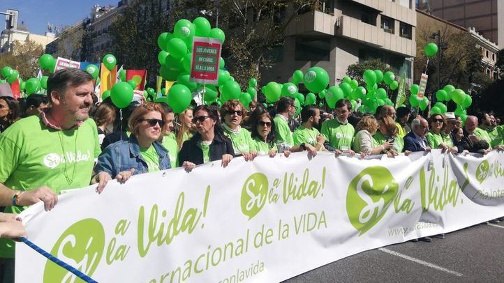 Manifestación provida en Madrid.