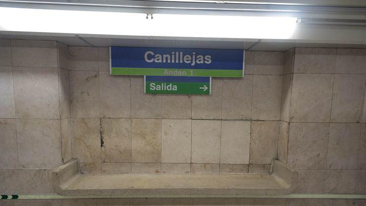 Estación de Canillejas de la línea 5 de metro.