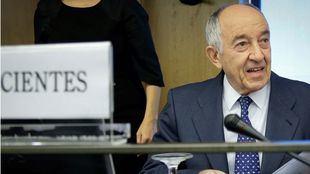 Miguel Ángel Fernández Ordóñez, exgobernador del Banco de España, declara como testigo en el juicio que investiga la salida a Bolsa de Bankia en 2011.