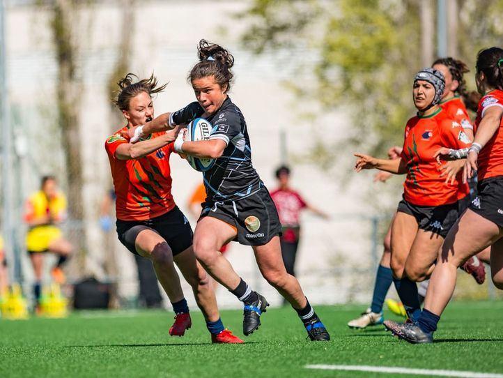 Final de la Liga Iberdrola de rugby femenino con el encuentro disputado entre el INEF Hospitalet y el CRAT Universidades da Coruña.