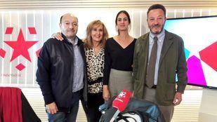 Rita Maestre, portavoz del Ayuntamiento de Madrid, y Íñigo López de Luna, concejal del PP, junto a Constantino Mediavilla y Nieves Herrero en Onda Madrid