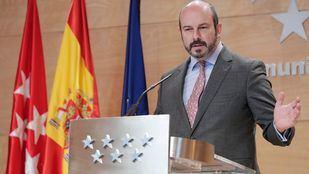 El vicepresidente de la Comunidad de Madrid, Pedro Rollán, en la rueda de prensa posterior al Consejo de Gobierno.