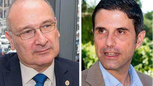 Los alcaldes de Parla, Luis Martínez Hervás, y Alcalá de Henares, Javier Rodríguez Palacios