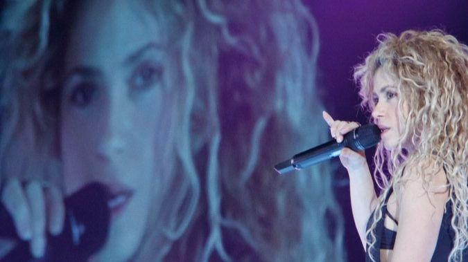 Shakira en uno de sus conciertos.