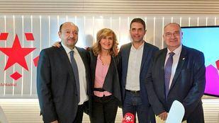 Los alcaldes de Parla y Alcalá de Henares, Luis Martínez Hervás y Javier Rodríguez Palacios en Com.Permiso
