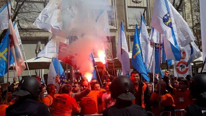 Un detenido en los incidentes entre trabajadores de Alcoa y la Policía