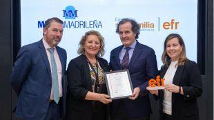 De izda a dcha Rafael Fuertes, María Antonia Pérez León, Rafael González Palenzuela y Ana Gallardo