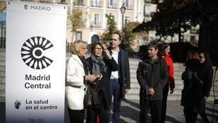 Parte del equipo de Gobierno de Ahora Madrid, en la presentación de Madrid Central.